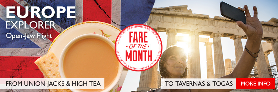 Flight Centre's Fare of the Month - Open-Jaw Flight into London return from Athens!