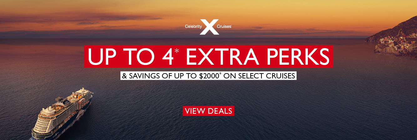 Receive Up To 4 Extra Perks with Celebrity Cruises