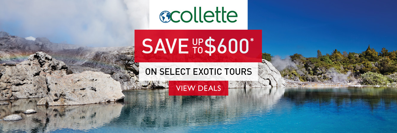 Save up to $500 on select tours with Collette Vacations