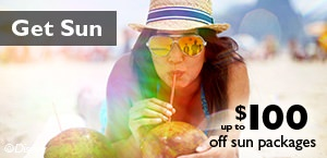 Get Sun - Save up to $100 off sun packages