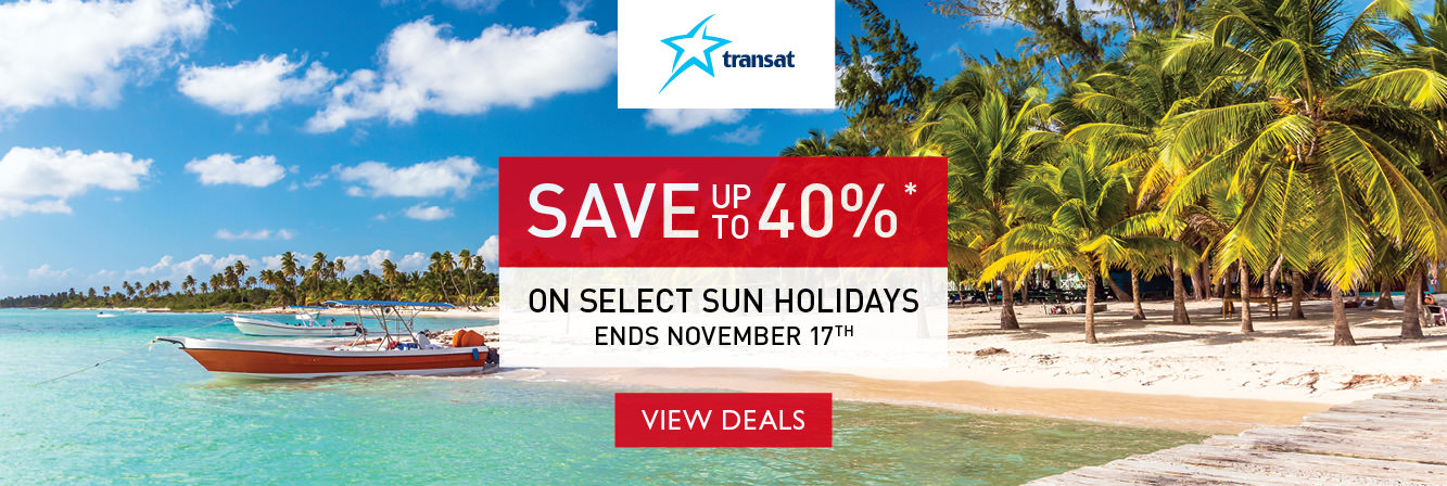Save up to 40% on select sun holidays with Transat