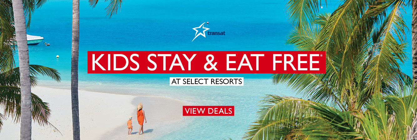 Kids Stay & Eat FREE With Transat