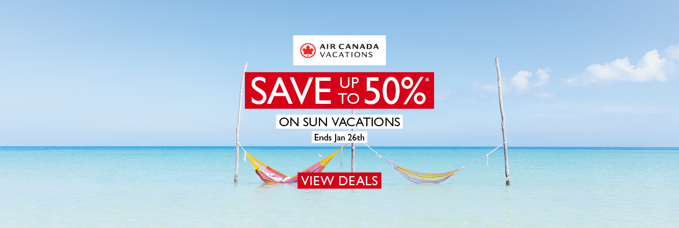 Save Up To 50% with Air Canada Vacations