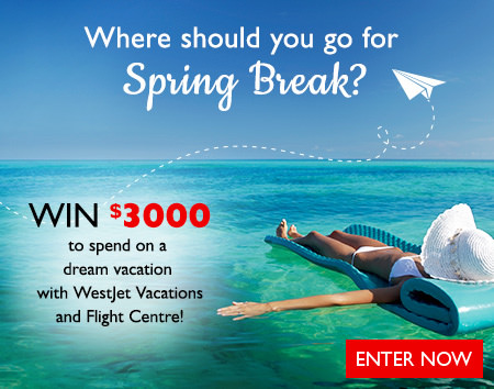 Win a dream vacation with WestJet Vacations and Flight Centre!