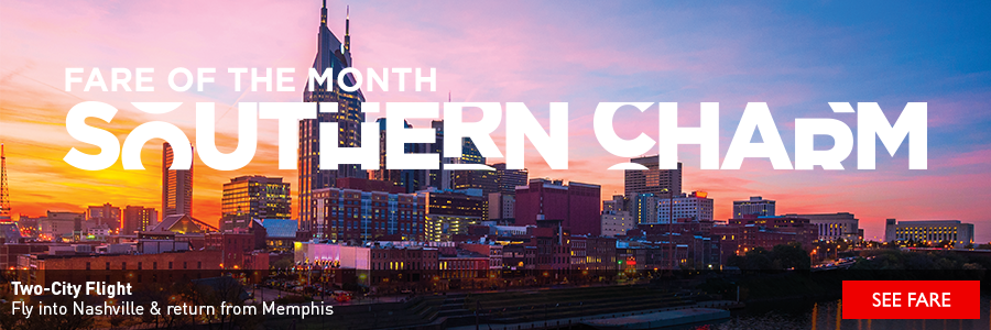 Southern Charm - Fly into Nashville and return from Memphis with Delta Air Lines