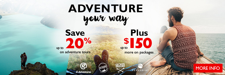 Flight Centre's Adventure Sale - Save up to 20%* on select cruise and tours by February 28!