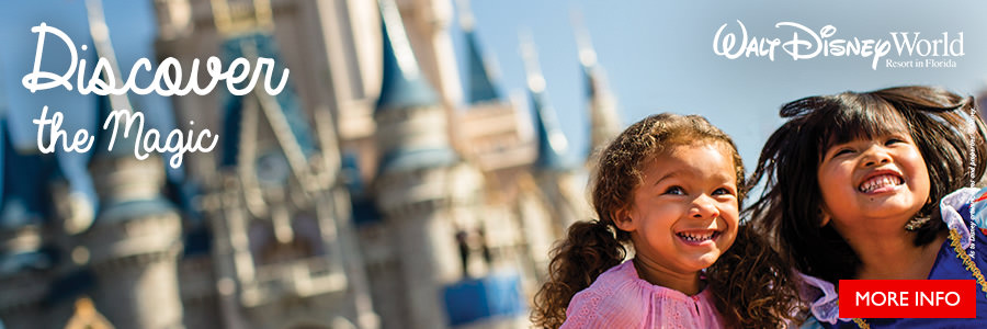 Discover the Magic of Walt Disney World. On sale until March 31, 2018