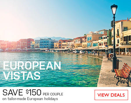 Save on tailor-Made European holidays! Save $150* per couple until June 30