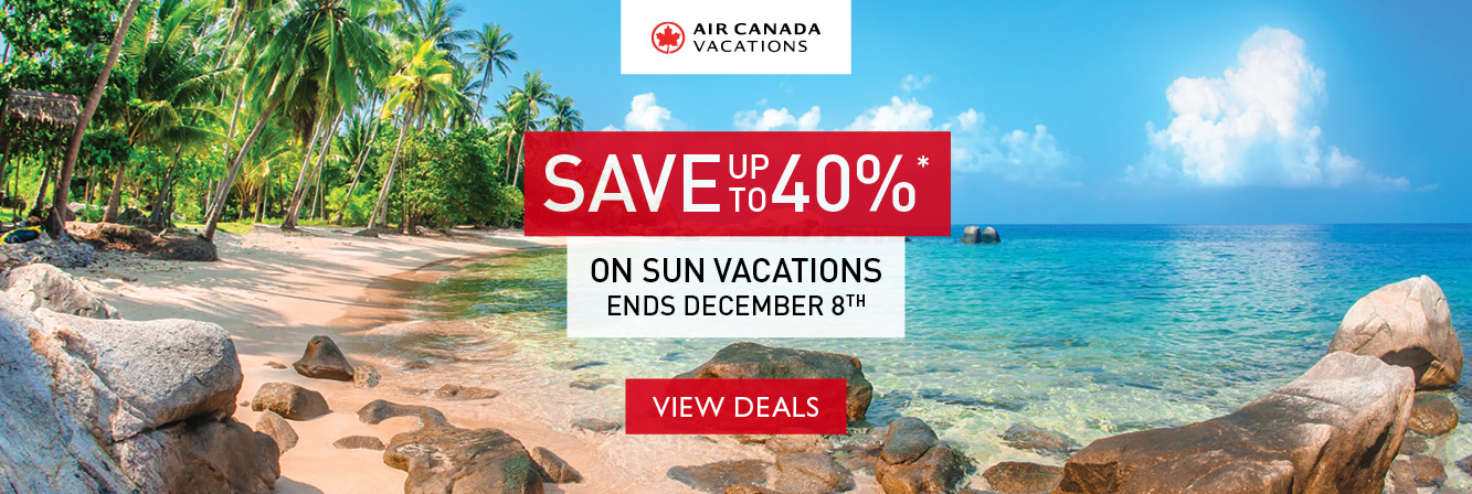Save up to 40% with Air Canada Vacations!