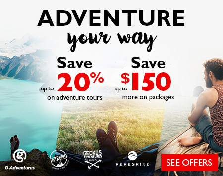 Adventure Your Way- Save up to 20% off adventure tours Save up to $150 more on packages