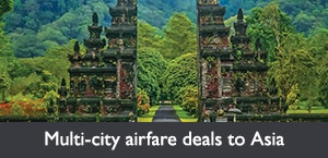 Multi-city airfare deals to Asia