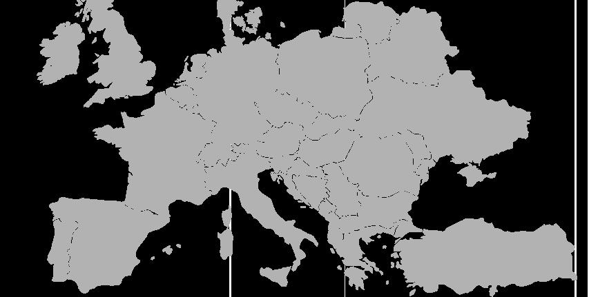 Eurobreaks map
