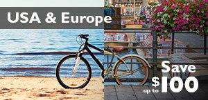 Save up to $100 on USA & Europe Holidays