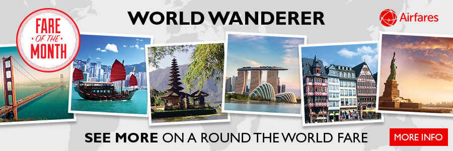 Flight Centre's Fare of the Month - Travel the globe with the 'World Wanderer'!