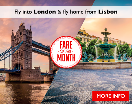 March's Fare of the Month - Visit London & Lisbon on a 2-City Open-Jaw Flight
