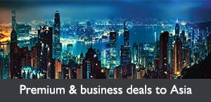 Premium & business deals to Asia