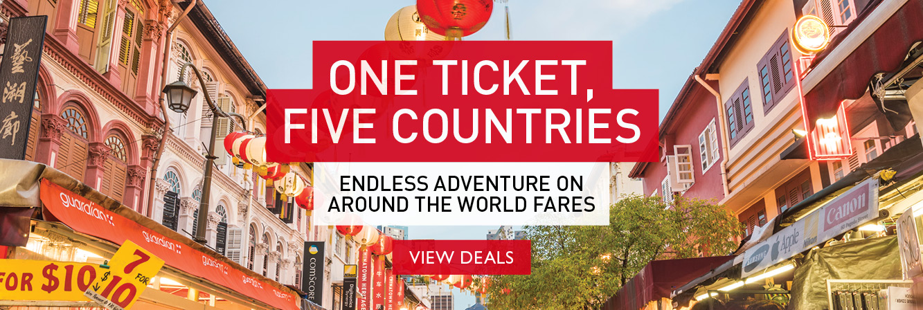 One ticket, Five countries fare of the month!