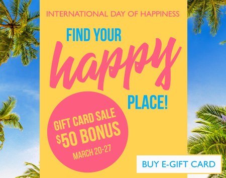 Receive up to $50* bonus gift card when you purchase a gift card of $100 or higher