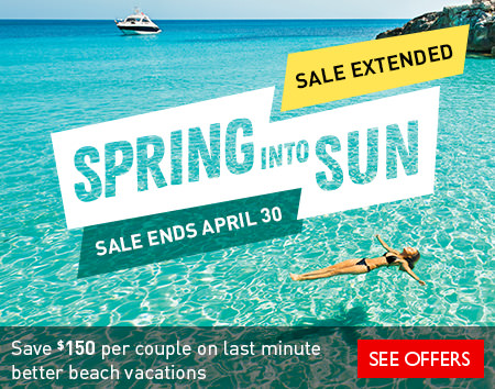 Save $150* per couple on better beach vacations