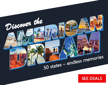 Discover the American Dream! Save on USA vacations.