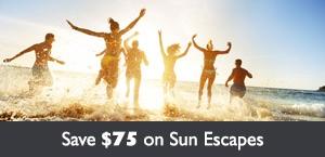 Save $75 per person on Flight Centre's Sun Escapes!