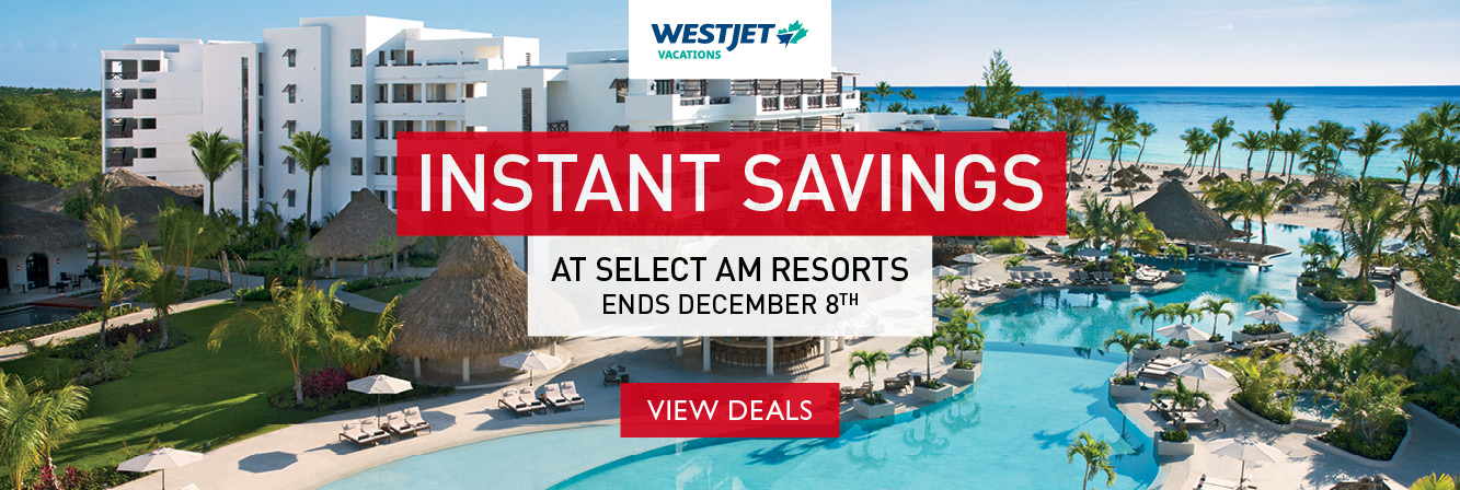 Save $200 at AM Resorts with WestJet Vacations!