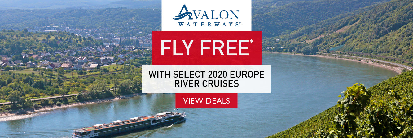Fly free with select 2020 Europe Avalon Waterways river cruises
