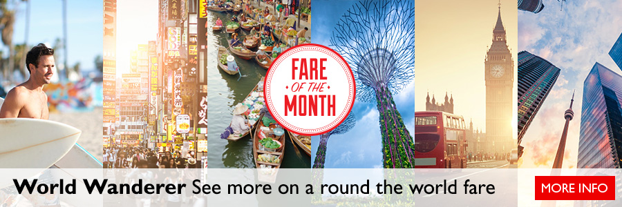 June's Fare of the Month - World Wanderer - Round the World Fare
