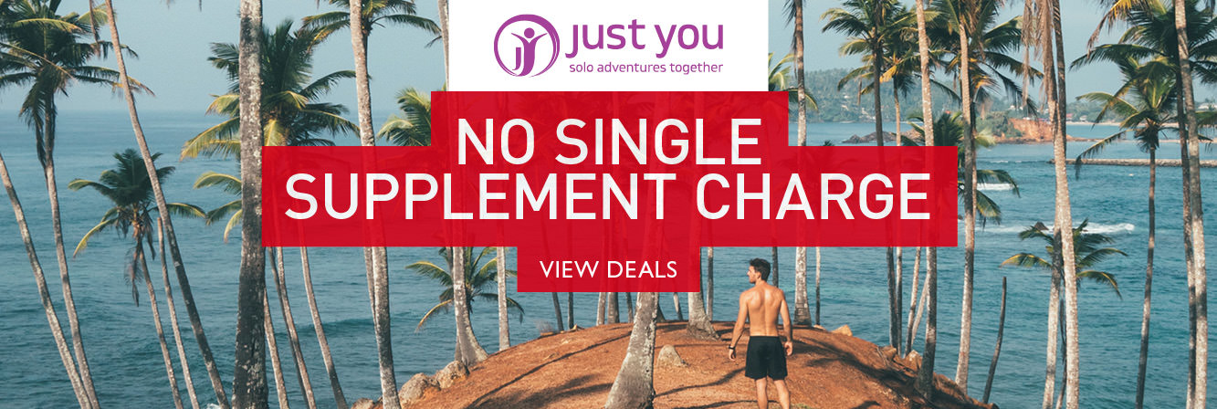 No single supplement charge with Just You tours