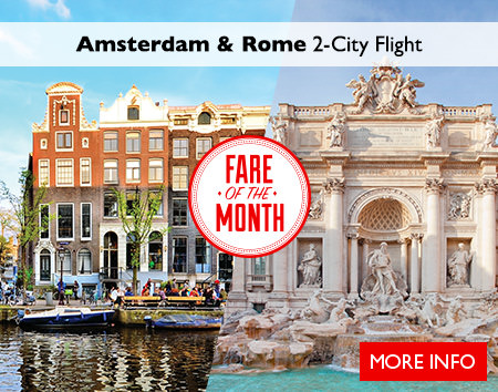 February's Fare of the Month - Amsterdam & Rome 2-City Flight