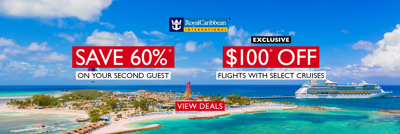 Save 60%* on the second guest on select Royal Caribbean cruises