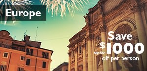 Europe  - Save up to $1000 on Europe tours & cruises