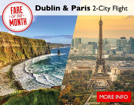 January's Fare of the Month - Dublin & Paris 2-City Flight