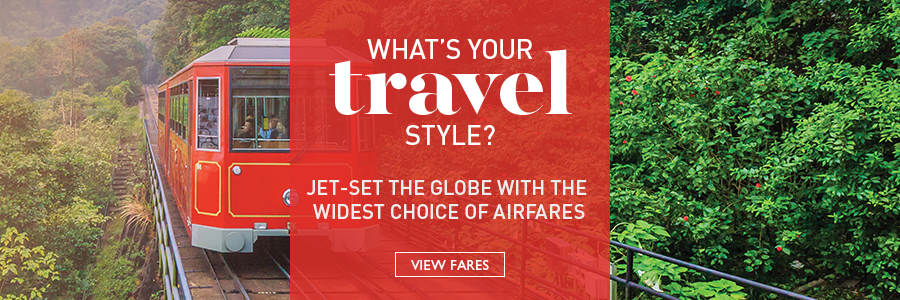 Jet-set the globe with the widest choice of airfares