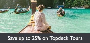 Save up to 25% on select Topdeck Travel tours. Offer expires February 28, 2018.