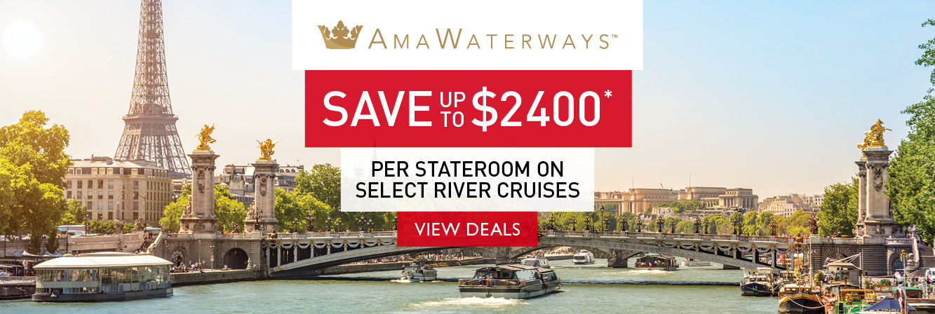 Save up to $2400 per stateroom on select AmaWaterways river cruises