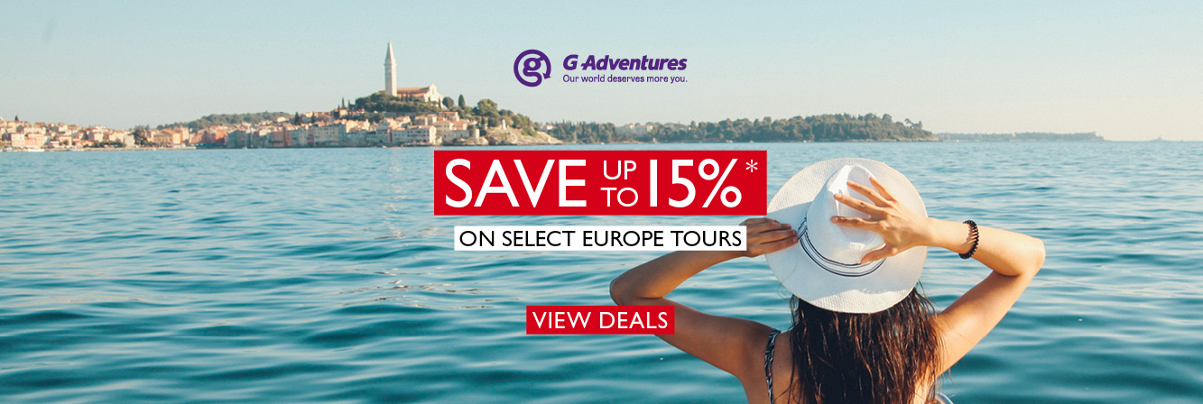 Save 15%* on Europe tours with G Adventures
