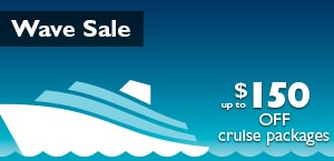 Wave Sale - Up to $100 off cruise packages