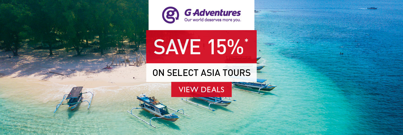 Save 15% on select Asia tours with G Adventures