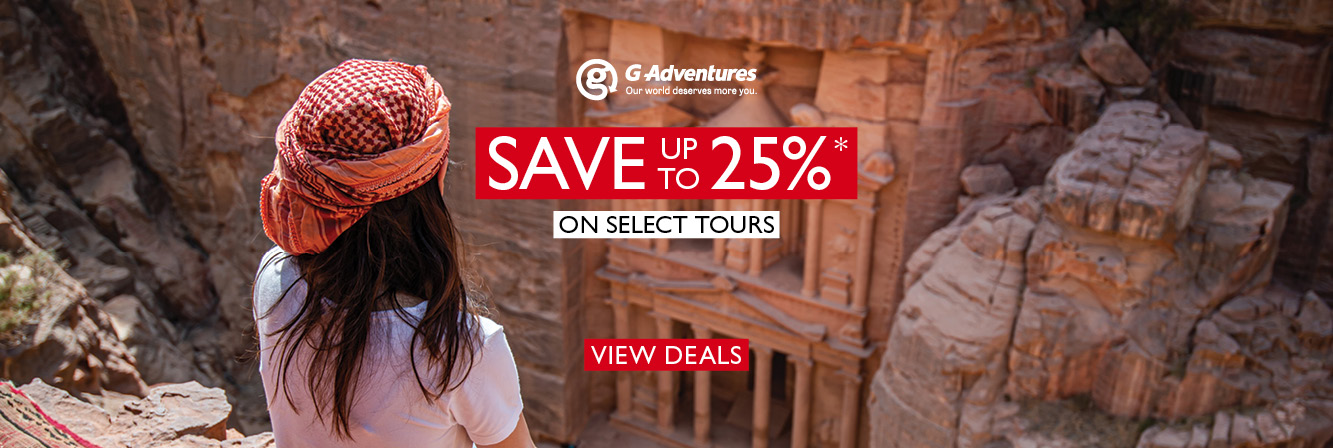 Save Up To 25% with G Adventures