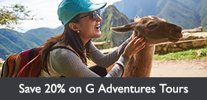 Save 20% on select G Adventures tours. Offer expires February 28, 2018.