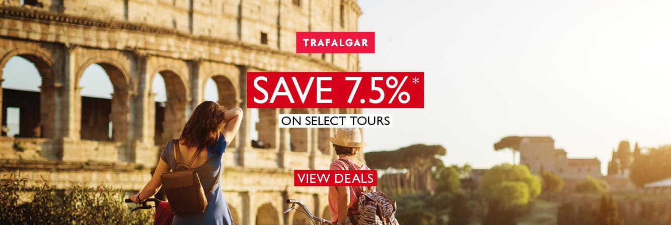 Save 7.5% with Trafalgar