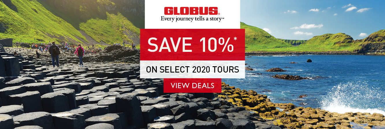 Save 10% on select 2020 tours with Globus