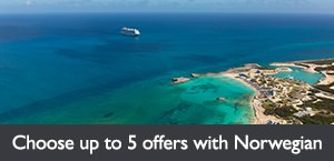 Choose up to 5  offers with Norwegian