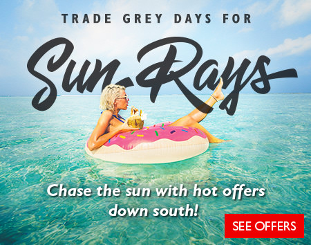 Save on Sun Holidays! Up to $150 off per couple on select holidays