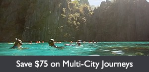 Save $75 per person on Multi-City Journeys