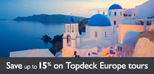 Save up to 15% on select Topdeck Europe tours