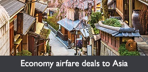 Economy airfare deals to Asia