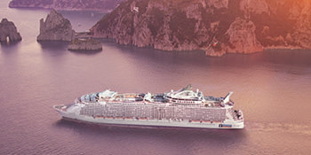 Save 50%* <br>on the second guest<br>with Royal Caribbean<br><br> Expires August 31, 2019
