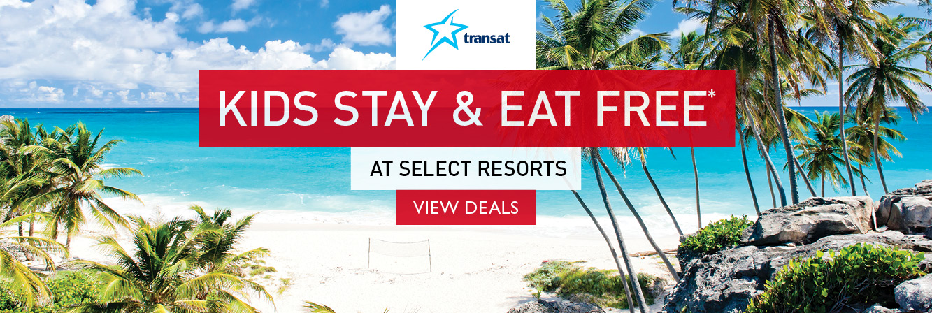 Kids stay & eat free on select sun holidays with Transat